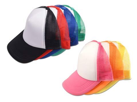 כובע רשת ראפר שילוב לבן