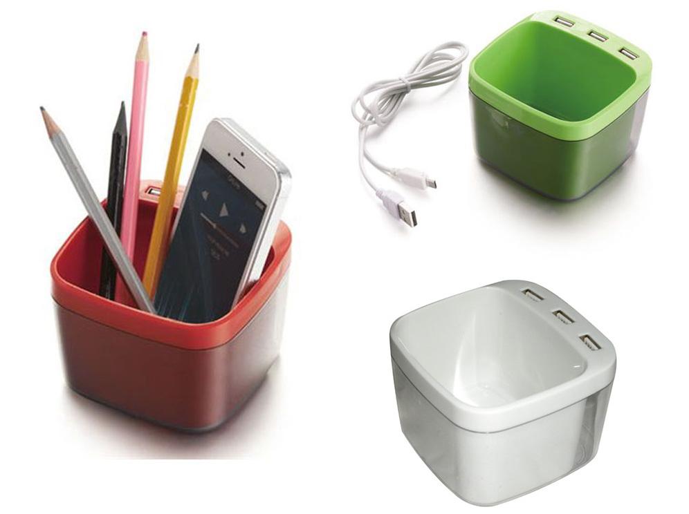 כוס לעטים מפצל USB