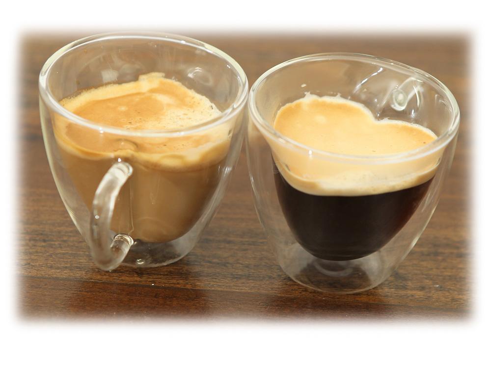 כוס קפה זכוכית כפולה לב