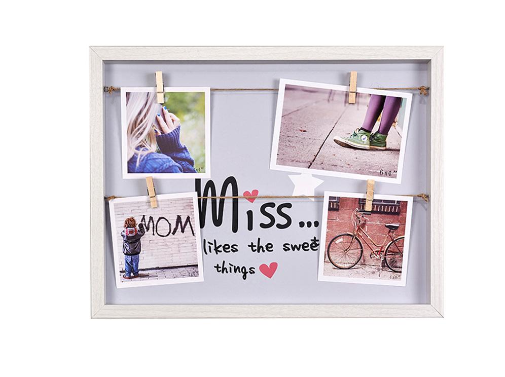 מסגרת עץ לתמונות והודעות