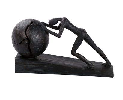 פסל מעוצב כוח רצון