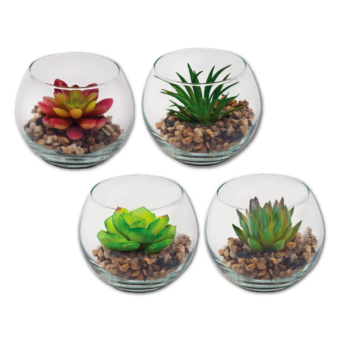 צמח מלאכותי בכלי זכוכית