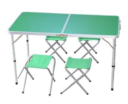 שולחן וכיסאות מתקפלים