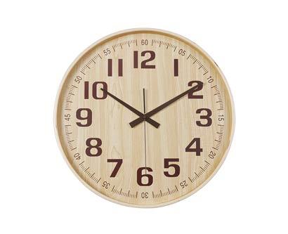 שעון קיר עץ טבעי
