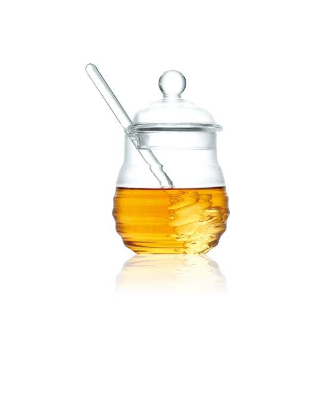 כלי דבש מזכוכית
