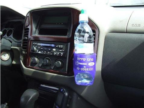 מחזיק בקבוק מים לרכב