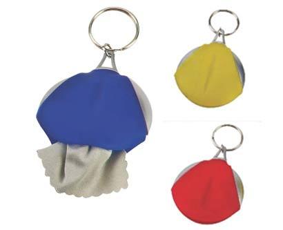 מחזיק מפתחות עם מטלית משקפים
