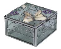 קופסאת תכשיטים מזכוכית