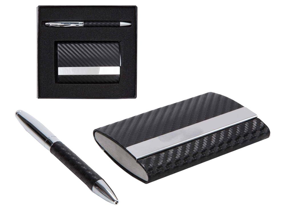 סט קופסת כ.ביקור +עט מתכת