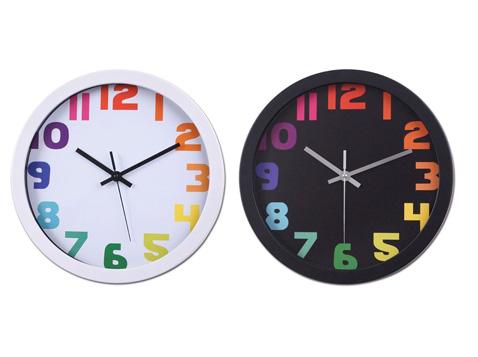 רונדו שעון קיר ספרות צבעוניות
