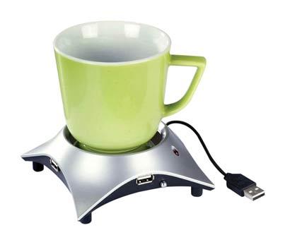 מחמם כוס קפה עם מפצל USB