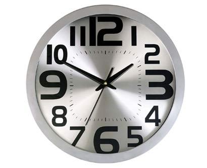 שעון קיר סילבר