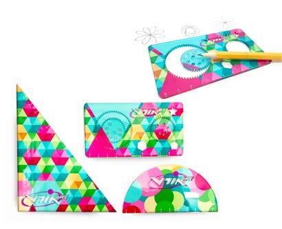 3 סרגלים מודפסים צבעוני