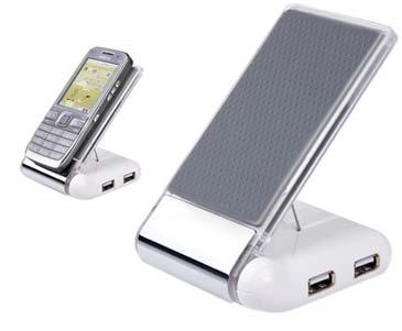 מעמד לטלפון נייד מפצל USB