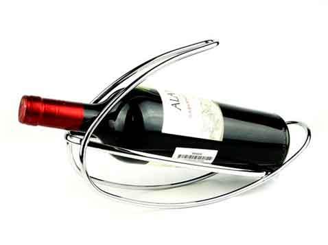 מעמד מתכתי לבקבוק יין