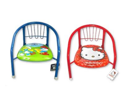 כסא ילדים מתכת מרופד