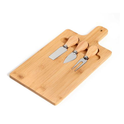 מגש חיתוך גבינות עם סכינים
