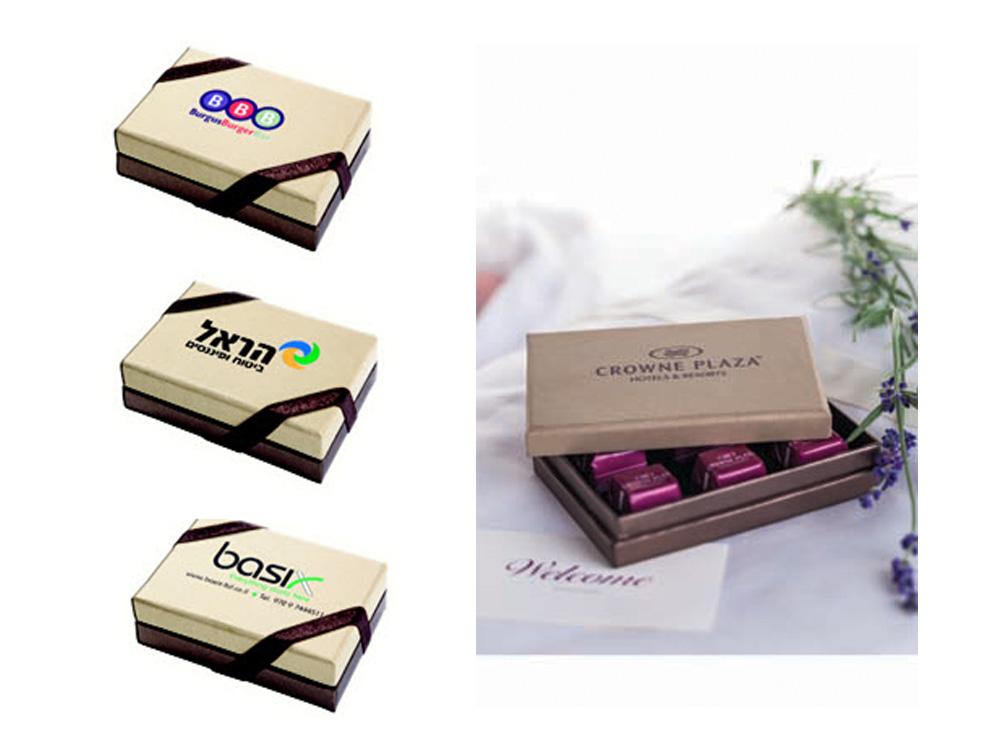 מארז שוקולד בצורת מלבן