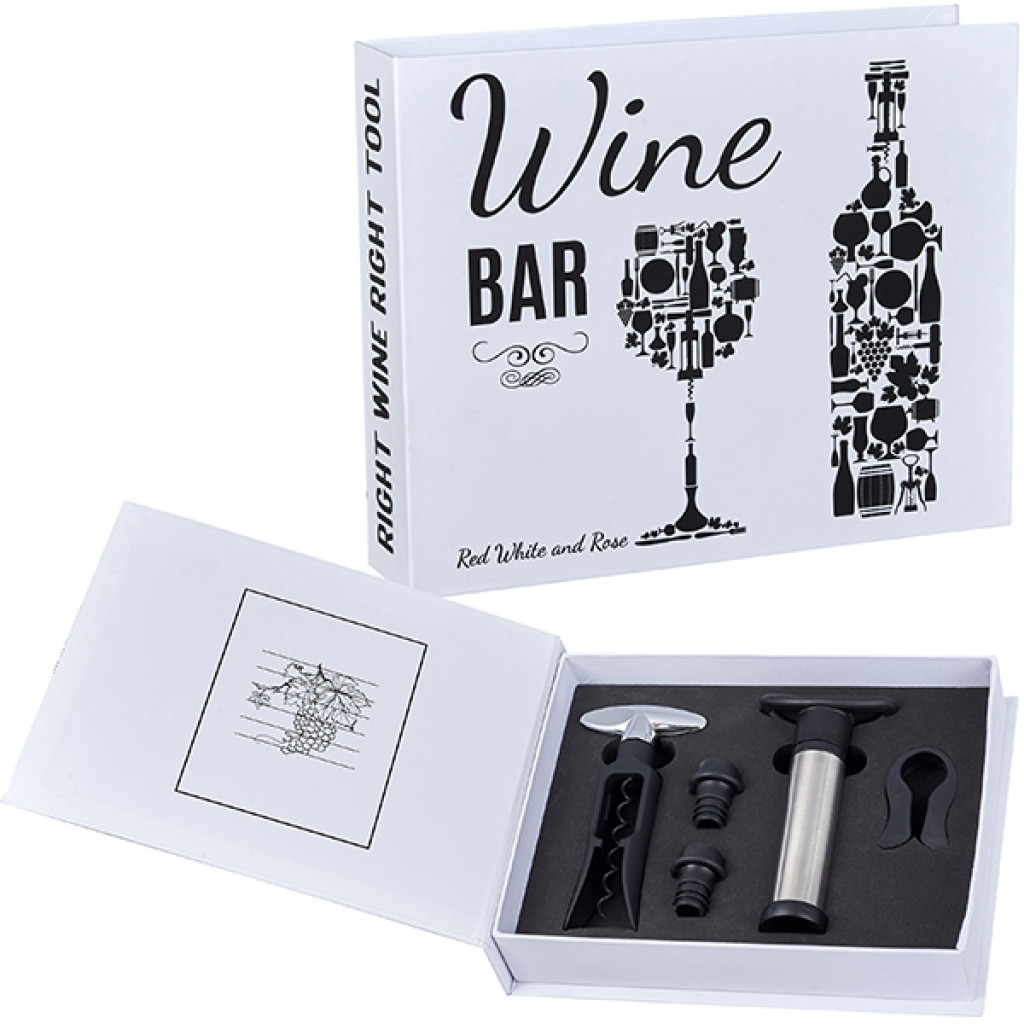 מארז יין 5 חלקים עם משאבה