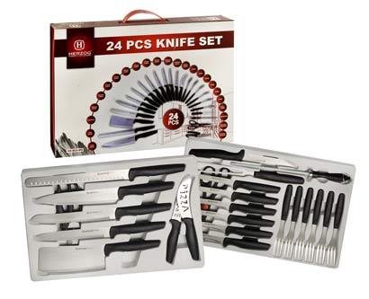 סט סכינים משולב 24 חלקים