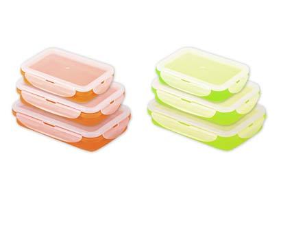 סט 3 קופסאות אוכל סילקון