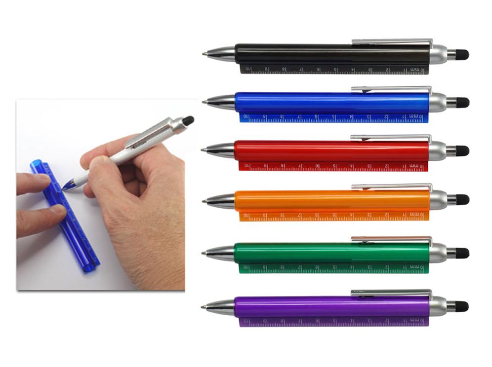 עט למסכי מגע בשילוב סרגל