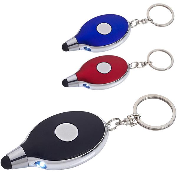 פנס מחזיק מפתחות עם כרית טאץ'