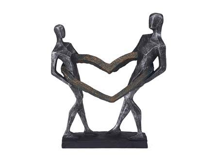 פסל מעוצב מעגל אהבה