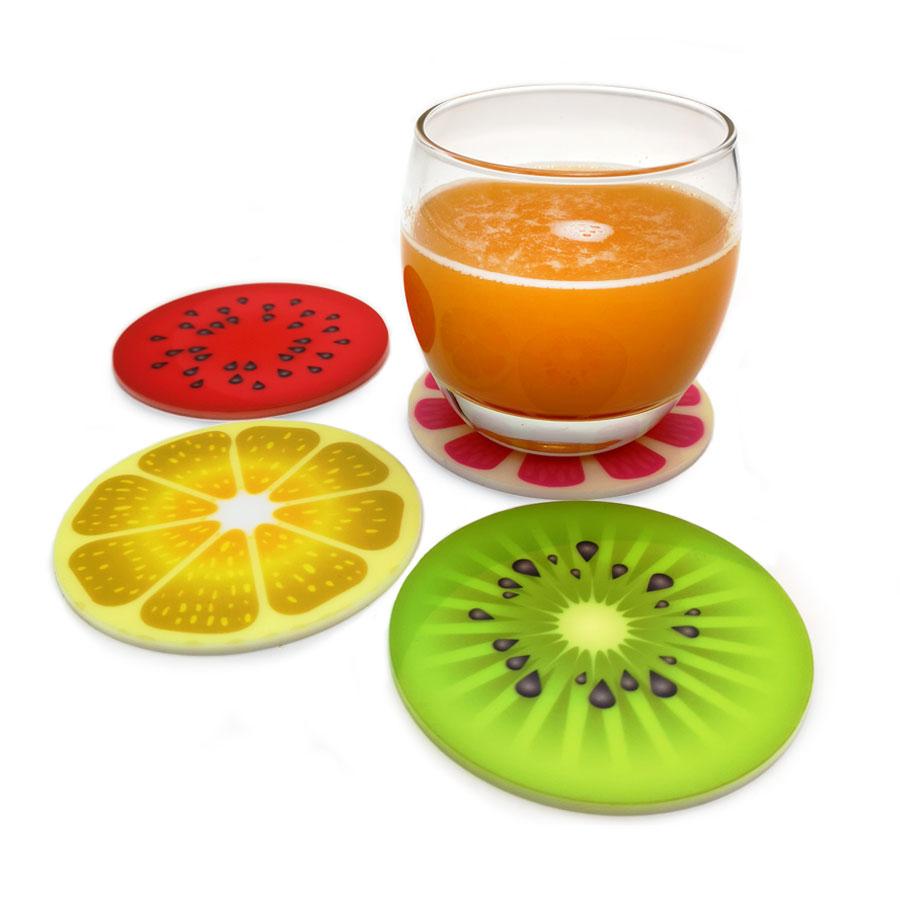 סט תחתיות פלסטיק פירות