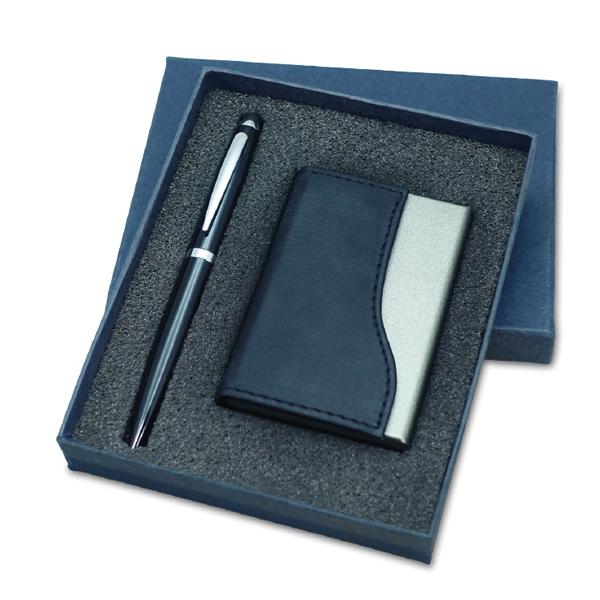 מארז עט וקופסא כרטיסי ביקור