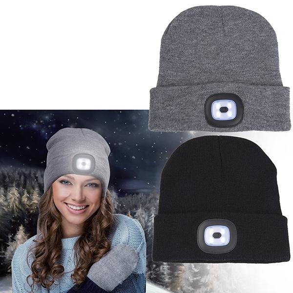 כובע צמר עם תאורה