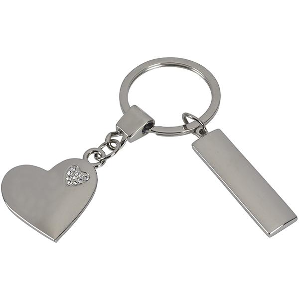 מחזיק מפתחות לב בתוך לב