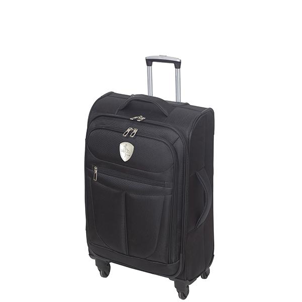 מזוודה טרולי עליה למטוס