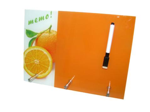 לוח ממו מחיק תפוז