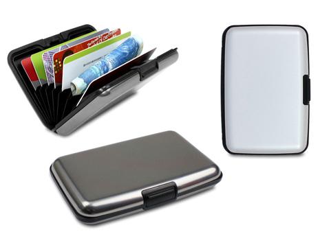 מארז אלומיניום לכרטיסי אשראי/כרטיסי ביקור