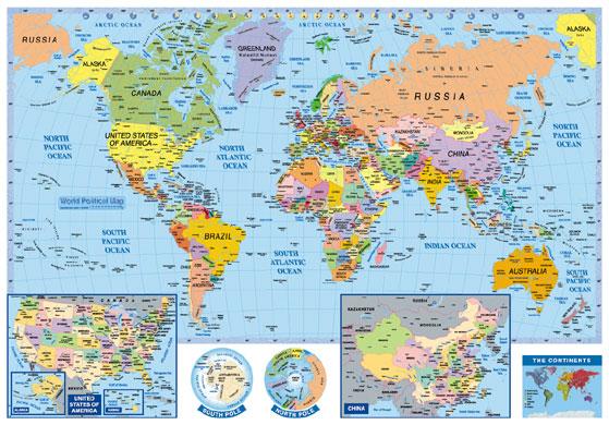 מפת עולם גדולה