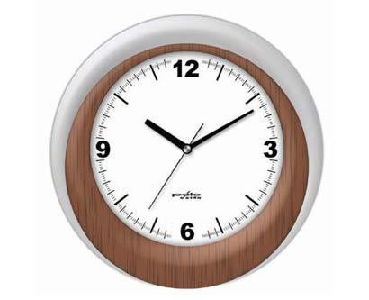 שעון קיר מדוגם