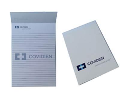 בלוק כתיבה A4 עם לוגו הלקוח  מודפס לוגו צבע 1 ללא כריכה המחיר כולל תחתית קרטון כל דף מודפס לוגו צבע 1