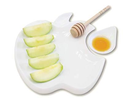 צלחת הגשה תפוח בדבש