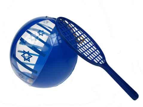 מטקה בשילוב כדור דגל ישראל
