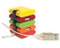 מפצל USB 2.0 צבעוני