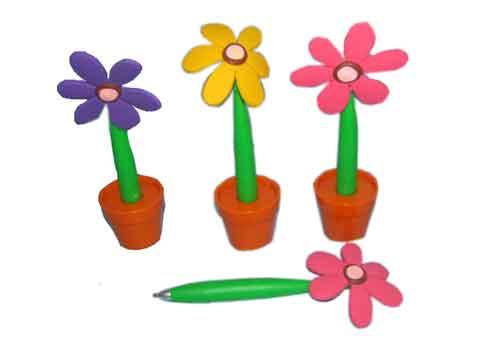 עט כדורי בצורת פרח