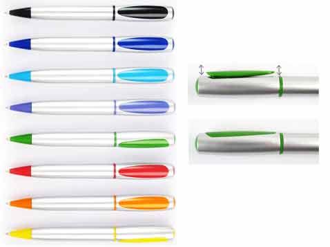 עט כדורי קליפי סילבר