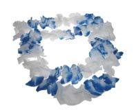 שרשרת פרחים כחול לבן